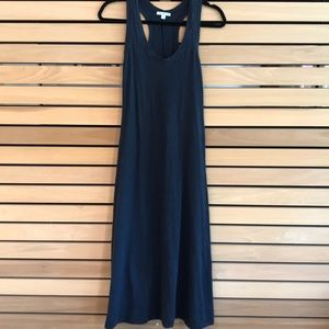 James Perse Racerback Maxi Dress in Navy Blue